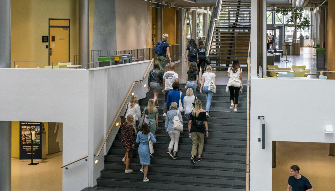 Studentene ved Handelshøyskolen BI får mest av alle institusjonene med nesten 7,5 millioner kroner. Her fra campus Nydalen, studiestart 2020.