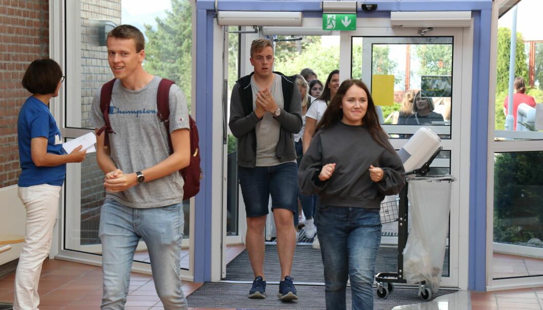 Det nærmer seg studiestart. Her fra fjorårets studiestart ved Høgskolen i Molde.