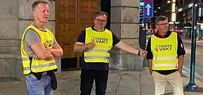 OsloMet-rektor Curt Rice, Arne Krumsvik fra Høyskolen Kristiania og rektor ved Universitetet i Oslo, Svein Stølen, tok sin tørn med faddervakt i Oslo fredag kveld.