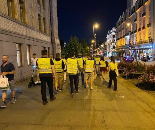 Flere faddervakter enn studenter i Oslo sentrum