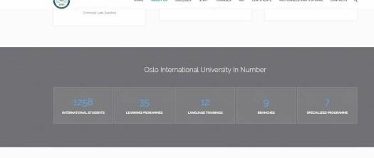 1258 studenter var status for universitetet, ifølge egne nettsider