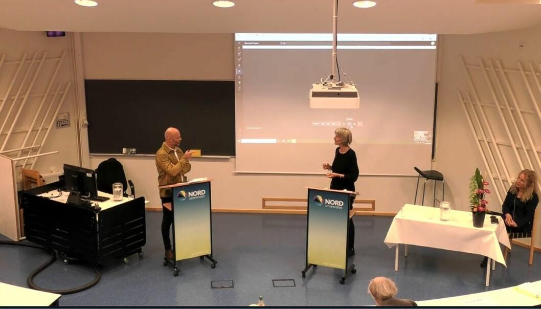 Førsteopponent Hedda Giertsen, professor emerita i kriminologi ved Universitetet i Oslo, hadde ingen spørsmål om etikk under disputasen i Bodø.