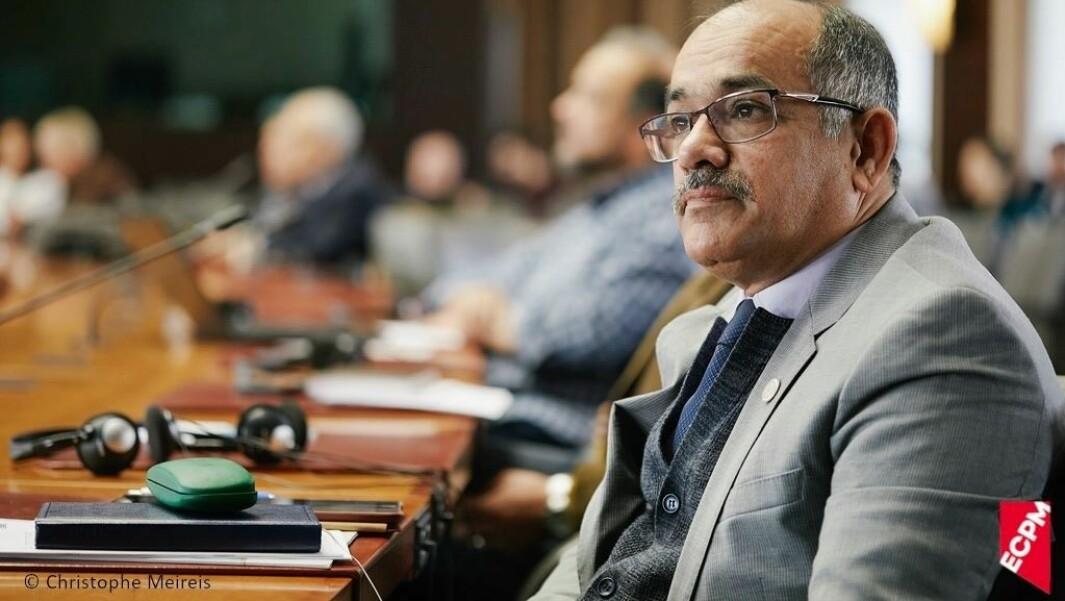 Aihan Jaf under en konferanse mot dødsstraff i Brüssel i 2019.