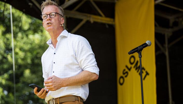 OsloMet-rektor Curt Rice mister ikke nattesøvnen om noen falske universitet skulle misbruke OsloMet-navnet..