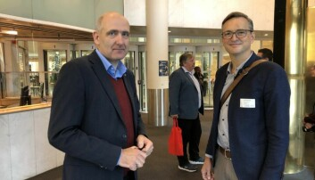 Leder og nestleder i Akademikerne Stat, Anders Kvam og Julius Okkenhaug.