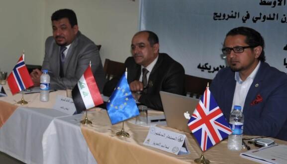 Azab Alaziz-Alhashemi til høyre, har representert organisasjonen til Aihan Jaf i midten.