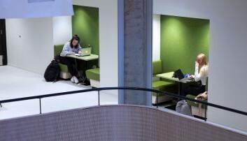 Nyopna K2 på HVL er fullt av smarte løysingar og arbeidsplassar for studentar og ansatte.