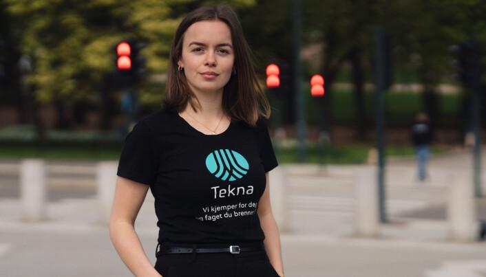 Rebekka Lie er studentleder i Tekna, og trekker frem tre funn i undersøkelsen som ekstra viktige.