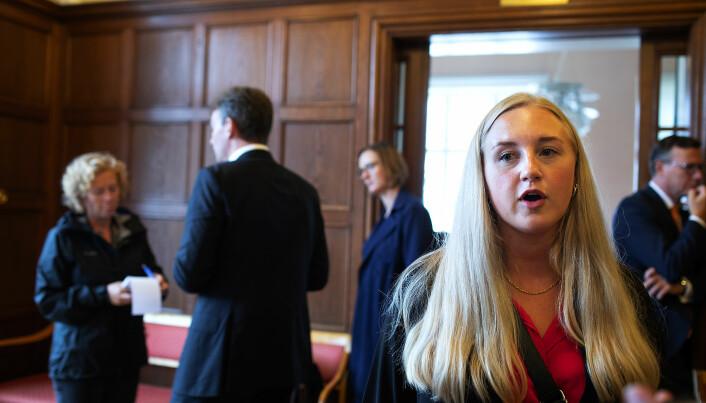 No må me sjå framover, seier NHH-studentleiar Lise-May Sæle.