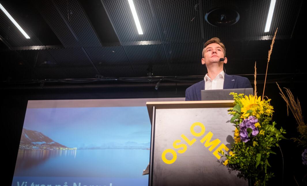 Statsråd for Høyere utdanning Henrik Asheim la fram ny politikk på OsloMet mandag.
