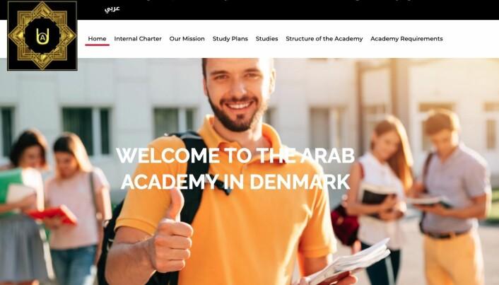 Nettsiden til danske Arab Academy in Denmark