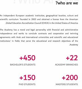 Slik beskriver Aalborg Academy seg på nettsidene.