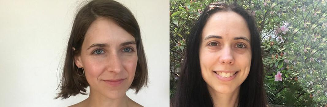 Lisa Piccirillo t.v. og Nina Holden. Begge har blitt tildelt årets Maryam Mirzakhani New Frontiers pris.