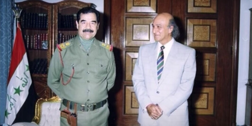 Saddam Hussein og hans tidligere lege, Ala Hussein Bashir.