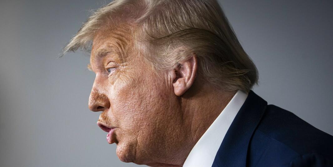 Scientific American langer ut mot Trumps håndtering av Covid-19. Her er presidenten under en pressekonferanse onsdag denne uka.
