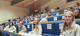 Èn fysisk forelesning i uka for de ferskeste studentene