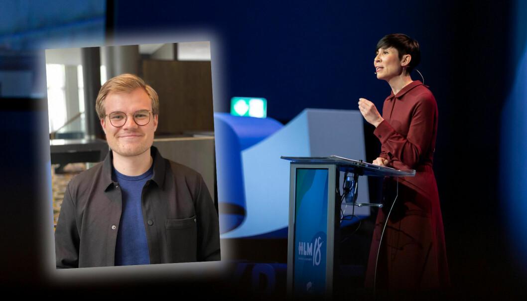 Vetle Langedahl blir politisk rådgiver for utenriksminister Ine Marie Eriksen Søreide
