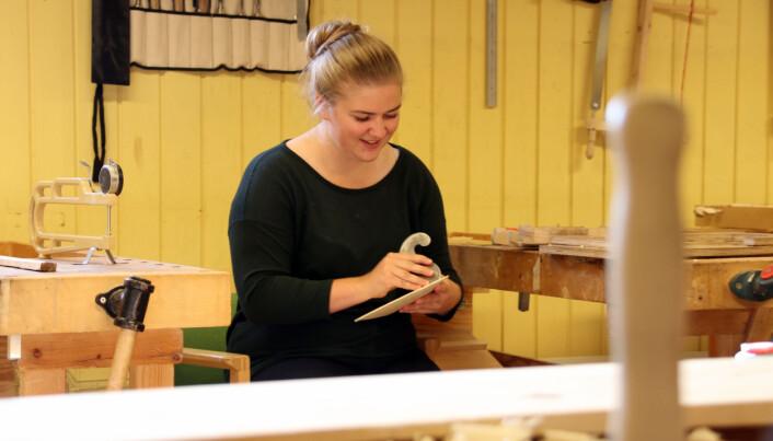 Birgit Haukås valde i likskap med det fleste andre studentane på Rauland å bli verande på studiestaden då samfunnet stengde ned i vår.