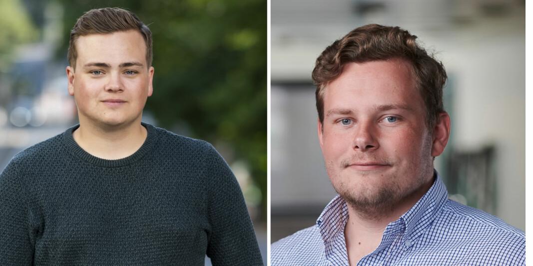 Andreas Trohjell er leder og Joachim er internasjonalt ansvarlig i Norsk studentorganisasjon.