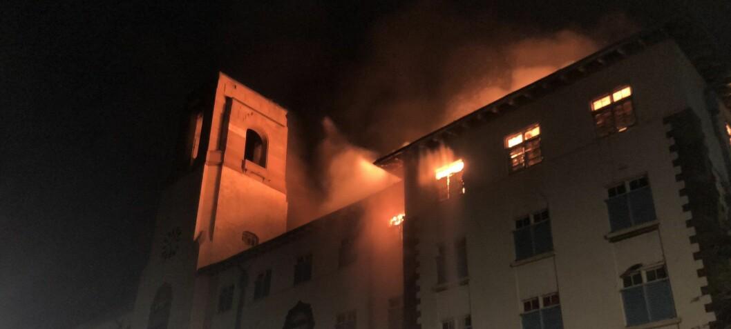 Ugandas største universitet i flammer