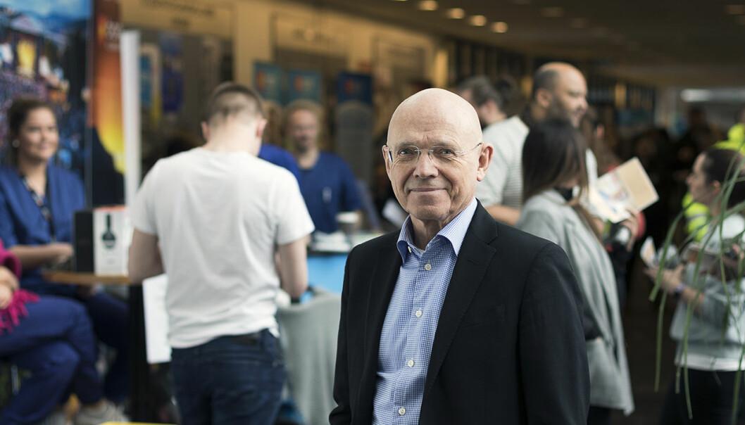 Reid Hole, prorektor ved Nord universitet, kan notere seg økt uttelling på søknader om forskningsmilder i 2020.