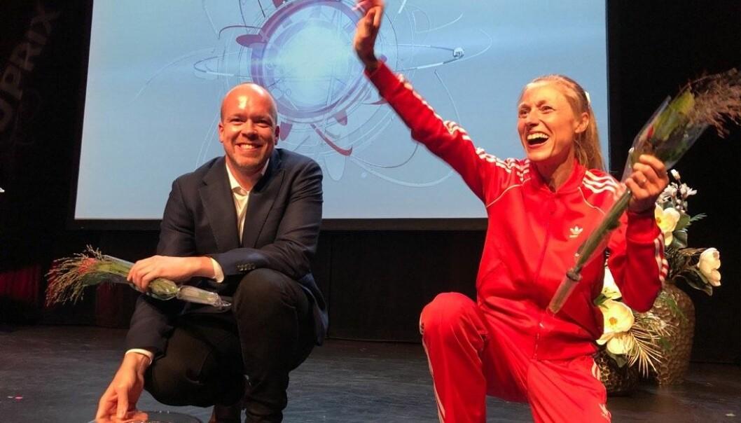 Finalister i Forsker Grand Prix fra Oslo: Arvid Nikolai Kildahl og Katrine Rolid.