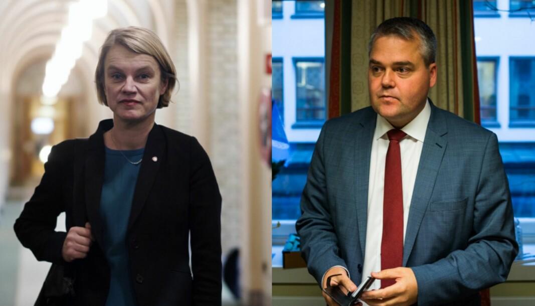 Arbeiderpartiets talsperson for forskning- og høyere utdanning, Nina Sandberg, og lederen av utdanning- og forskningskomiteen på Stortinget, Roy Steffensen (Frp), er negative til regjeringens klimakonkurranse.