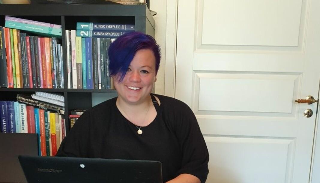 Kathrine Hvidsten er en av studentene som var med på det virtuelle utvekslingsprosjektet ved Høgskulen på Vestlandet.