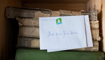 Her er brevet fra Jeia Børte som fulgte dagbøkene helt til Riksarkivet.