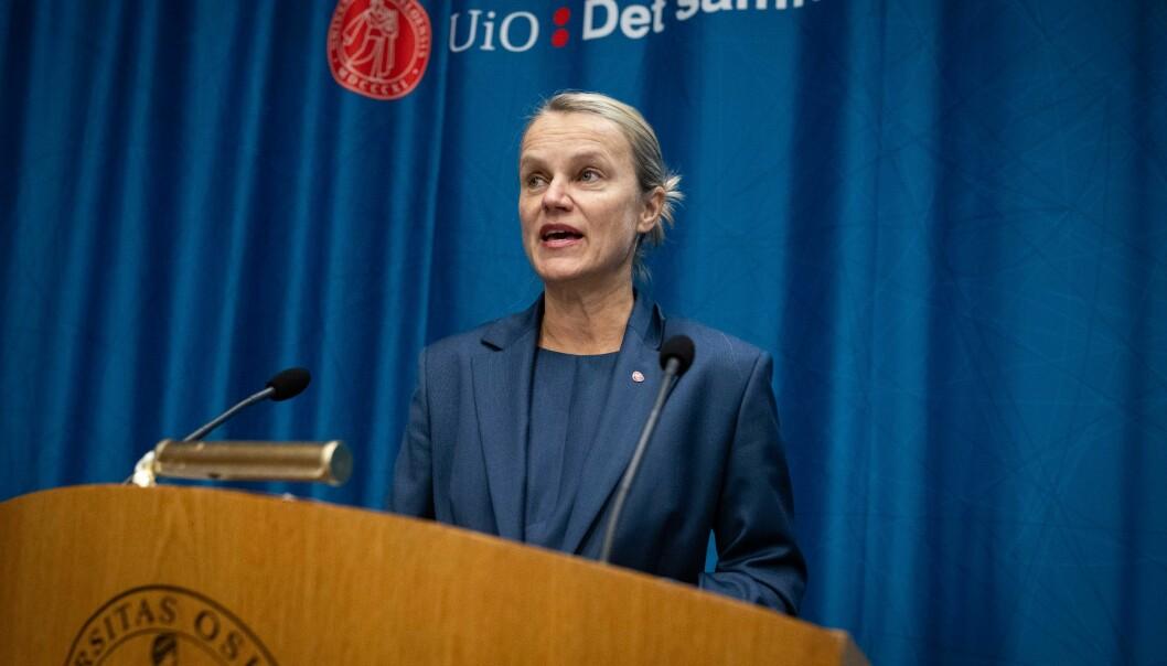 I Arbeiderpartiets alternative budsjett foreslår partiet å kutte tre direktoratet i UH-sektoren med 100 millioner kroner. Her representert ved stortingsrepresentant Nina Sandberg.