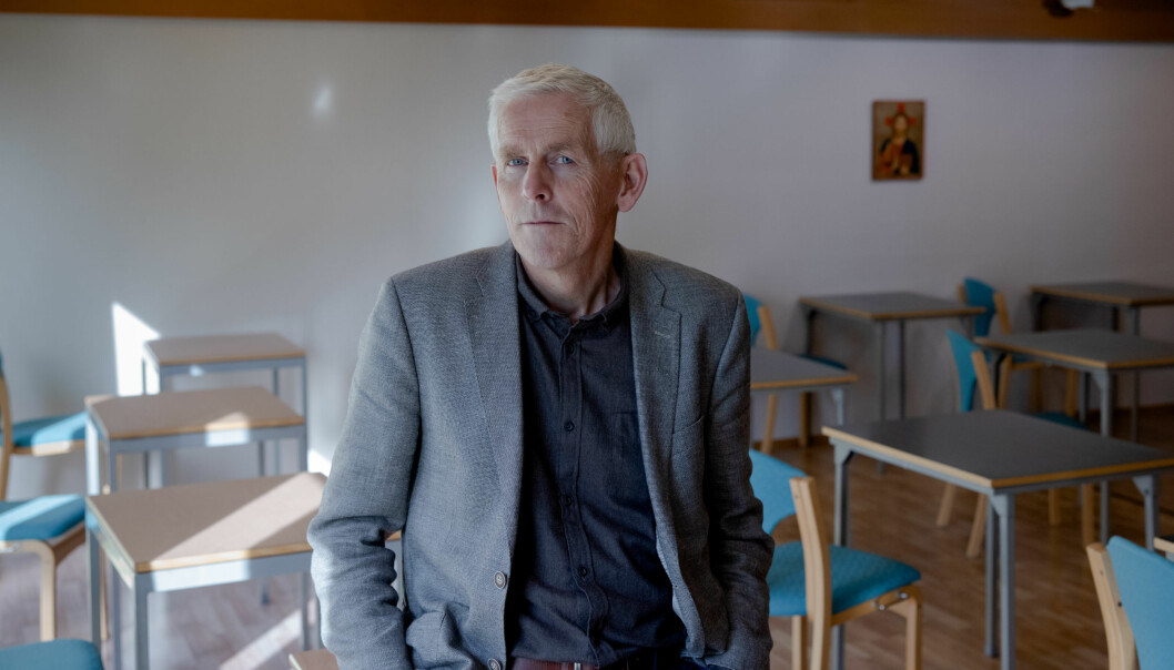 — Rektorene ved praksisskolene har krevd at denne setningen fjernes eller endres for at de skal fortsette samarbeidet med oss, sier rektor Sigbjørn Sødal til Vårt Land.