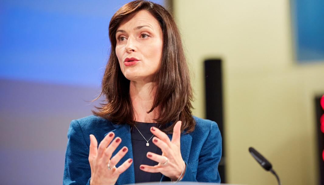 EU-kommisjonen, her ved forskningskommisær Mariya Gabriel, kan få utvidet makt til å holde aktører utenfor forskningssamarbeidet.