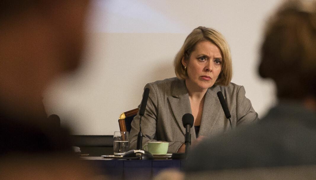 Politidirektør Benedicte Bjørnland er opprørt over det som kommer fram i forskning om Politihøgskolen.