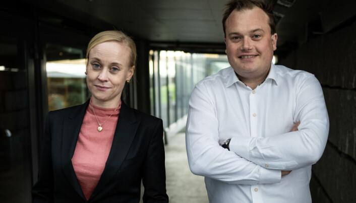 Ingrid Lossius Falkum og Jonas Stein skal lede Akademiet for yngre forskere det neste året.