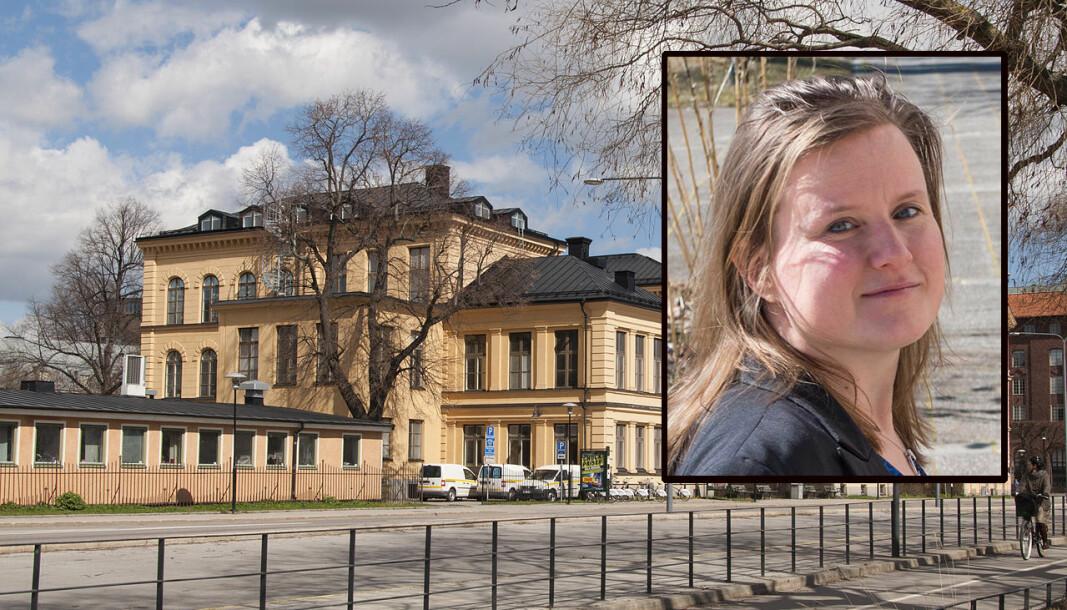 Klinisk epidemiolog ved Karolinska Institutet i Stockholm (her noen av byggene på Kungsholmen) Nele Brusselaers valgte i sommer å forlate Sverige.