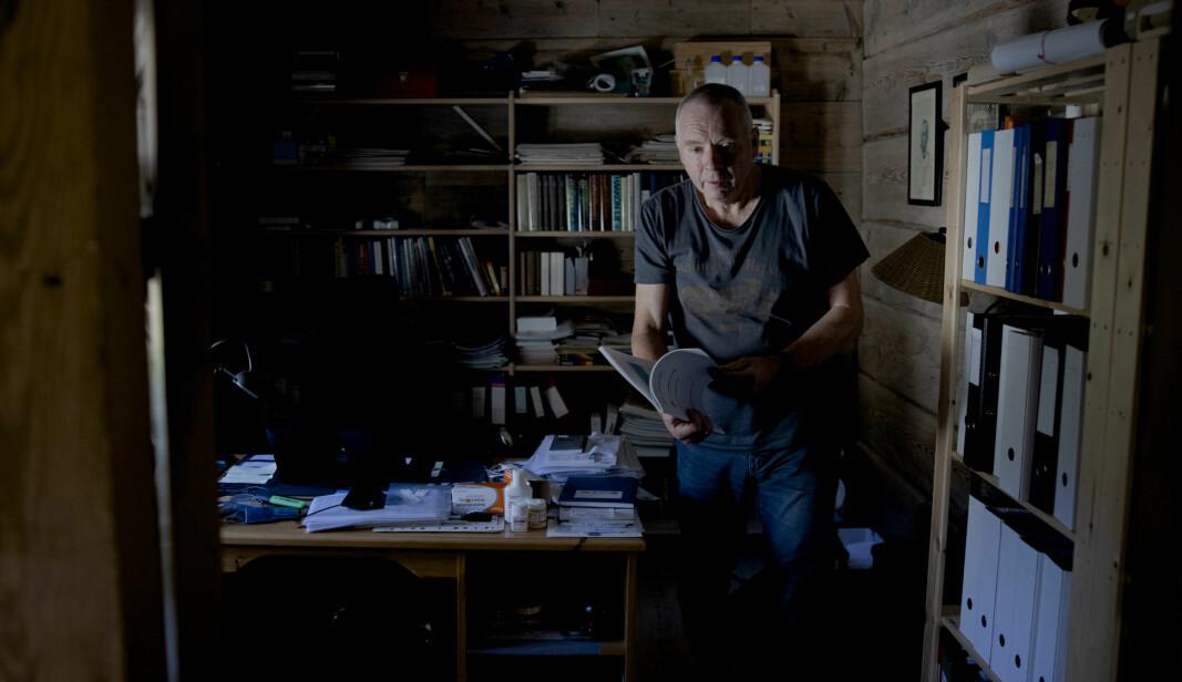 Bygstad - Norge Norway 16 .10.2020: Professor ved Kjemisk institutt og klimakriseskeptiker Olav Martin Kvalheim. Foto: Paul S. Amundsen/Khrono