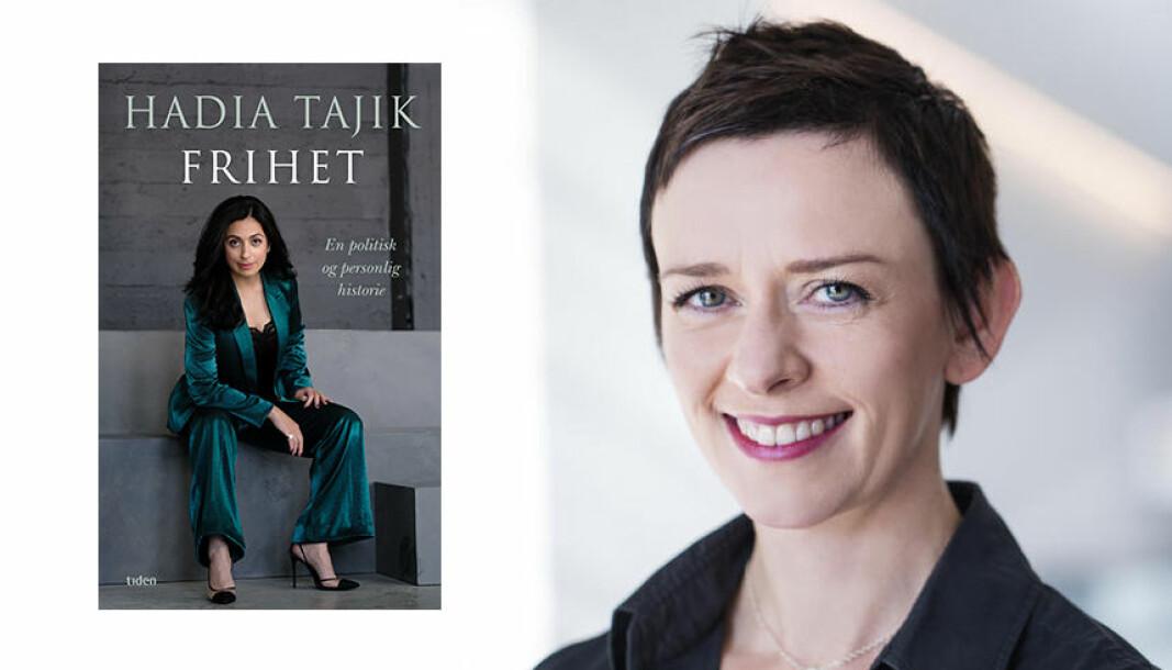 Innlegget til Karoline Holmboe Høibo om bildet av Hadia Tajik har skapt sterk debatt. Høibo står fortsatt på sitt.