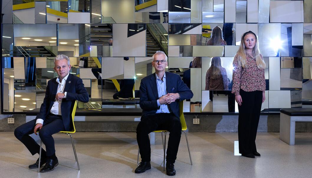 Geir Mikalsen, Øystein Thøgersen og Lise-May Sæle fortel om ei krevjande tid ved Noregs Handelshøgskole.