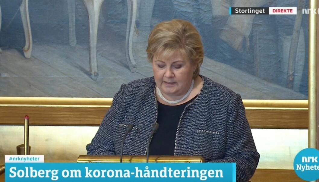Erna Solberg om den nye situasjonen.