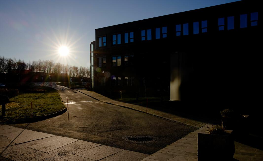 Både administrasjonen og forskarane kan få meir pengar å rutte med i 2021 enn først tenkt ved Nord universitet. Bildet er frå universitetsområdet i Bodø i oktober 2020.