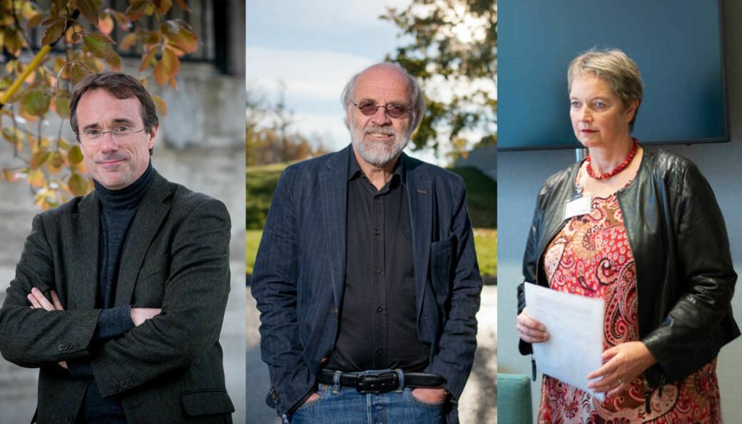 Rektorene Johann Roppen, Petter Aasen og Hanne Solheim Hansen har alle vært i møter om koronasituasjonen fredag.