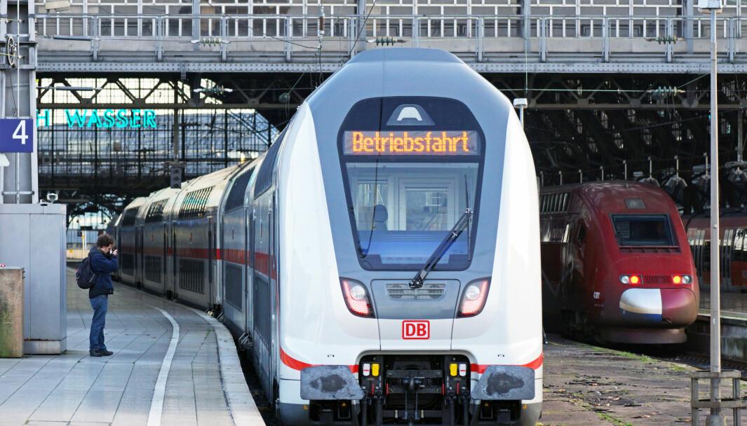 En fordel med å ha utveksling eller praksisopphold i Europa, er at man slipper å fly, mener Gro Anita Fonnes Flaten. Toget er et godt alternativ, her fra Köln i Tyskand.