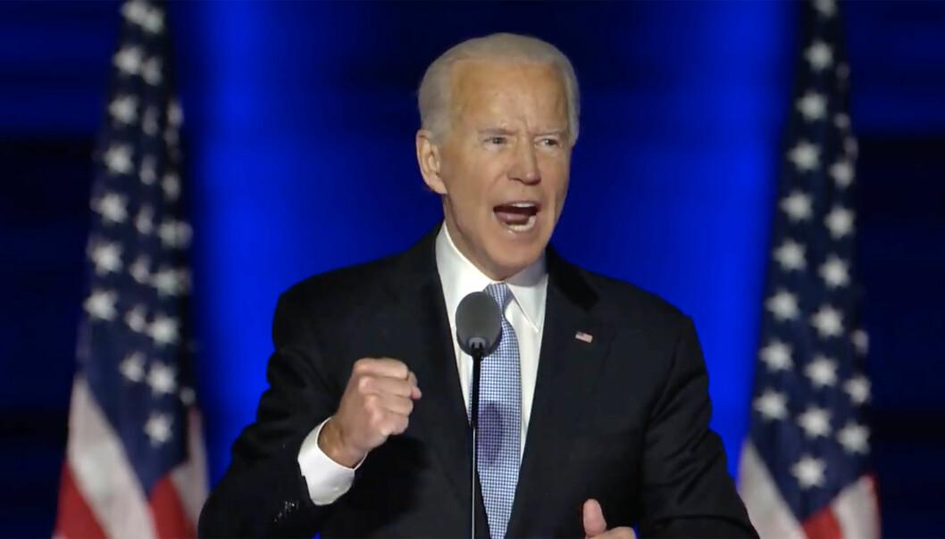 Påtroppende president i USA, Joe Biden, viser respekt for kunnskapen forskning leder til, mener rektor Dag Rune Olsen..