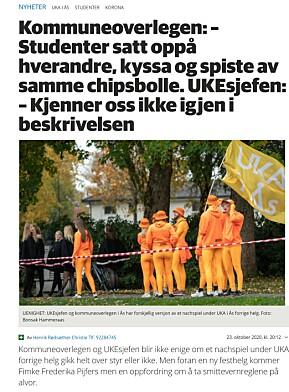 Kommuneoverlegen i Ås og studentene kranglet i lokalavisa.