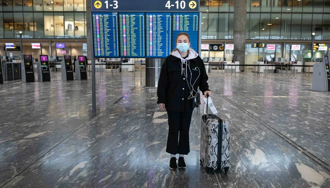 Det var ganske stille og rolig på Oslo lufthavn Gardermoen tidligere i november, da blant andre Silje Sørhus var på farten.