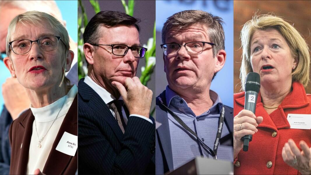 Rektorene Anne Borg, Dag Rune Olsen, Svein Stølen og Anne Husebekk har vanskelig for å forstå at regjeringen ikke verdsetter innsatsen til bedrifter, privatpersoner, stiftelser og frivillige organisasjoner som samler inn penger til forskning.