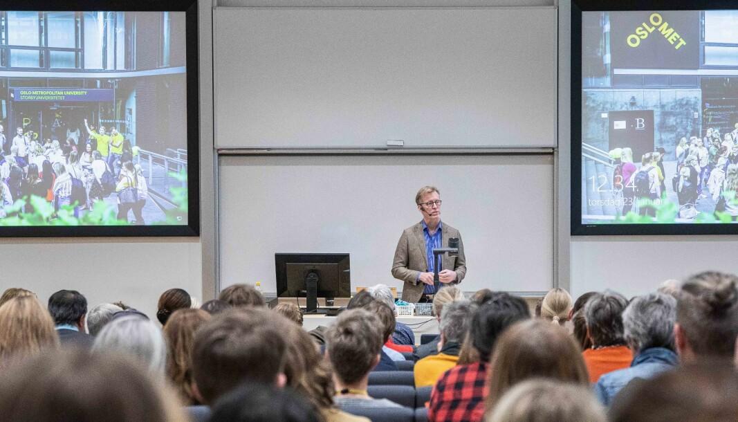 Rektor ved OsloMet, Curt Rice, mener det aller viktigste er at universitetsledere må sørge for at det å skape verdier for samfunnet går inn som en integrert del av samfunnsoppdraget.