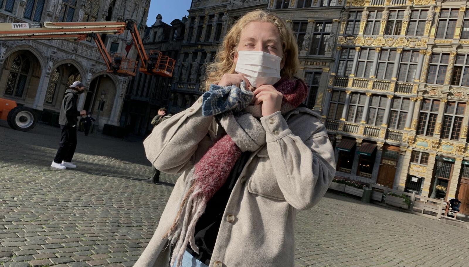 Carin Marie Svensen kom til Belgia like før landet stengte ned igjen.