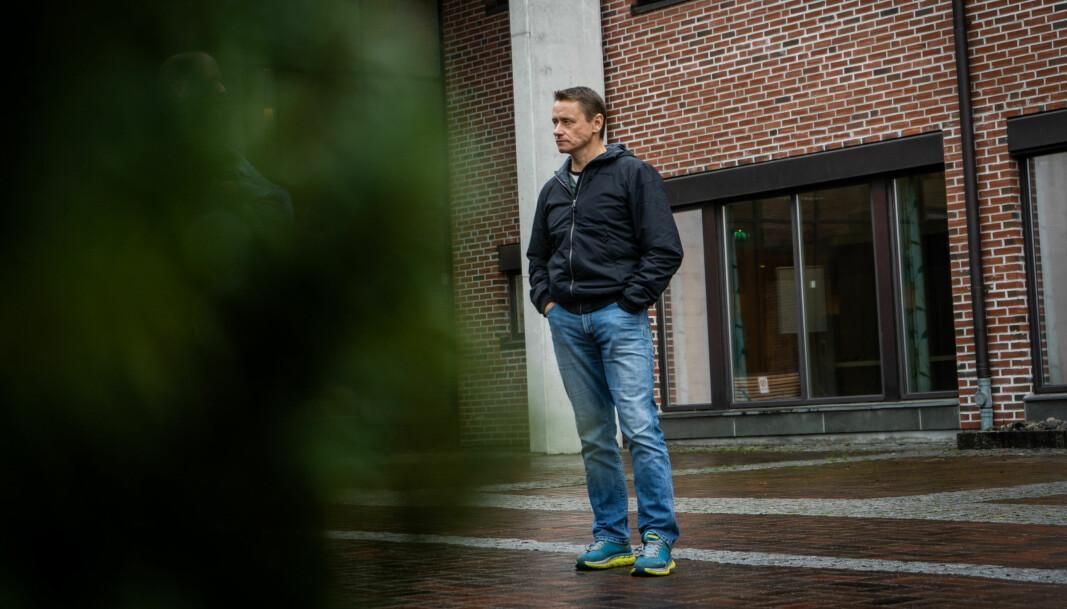 Andre Horgen er dosent ved friluftslivsstudiene i Bø. Han er åpen for innspill fra studentene, men samtidig stiller han spørsmål han håper de skal svare på.