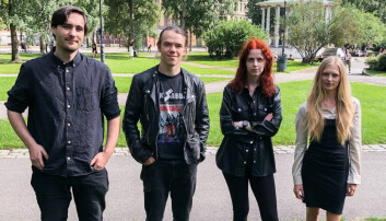 Fire av fem foreslåtte studenter ved Kunsthøgskolen i Oslo.